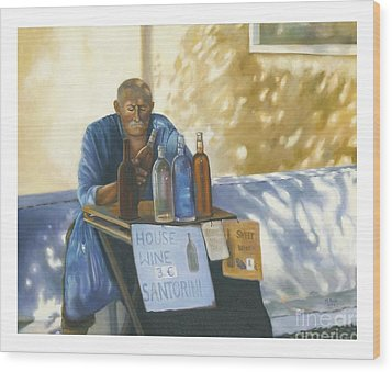 Wood Print featuring the painting The Wineseller by Marlene Book