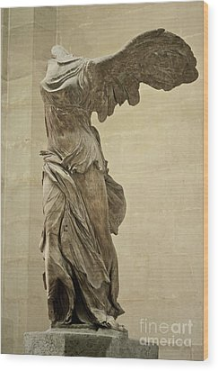 The Winged Victory Of Samothrace Wood Print by Chris Brewington Photography LLC