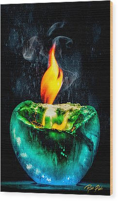 Wood Print featuring the photograph The Winter Of Fire And Ice by Rikk Flohr