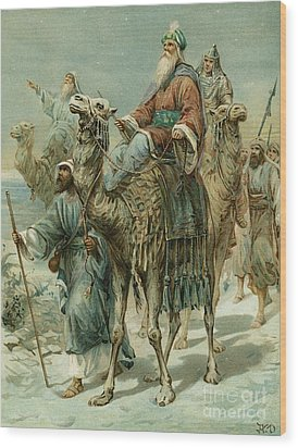 The Wise Men Seeking Jesus Wood Print by Ambrose Dudley