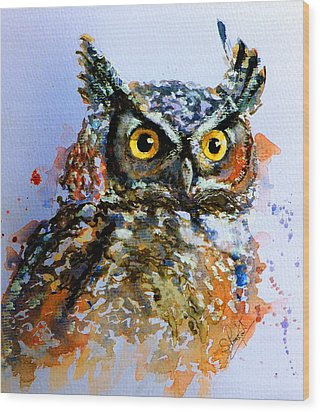 The Wise Old Owl Wood Print by Steven Ponsford