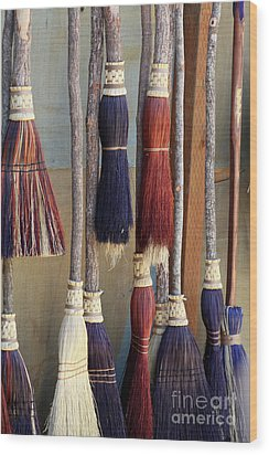 The Witches Brooms Wood Print