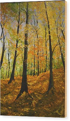 The Wood For The Trees Wood Print by Lizzy Forrester