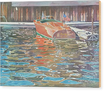 The Wooden Boat Wood Print by LeAnne Sowa
