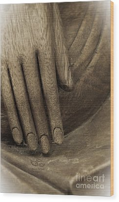 The Wooden Hand Of Peace Wood Print
