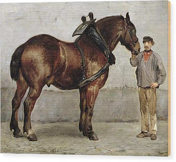 The Work Horse Wood Print by Otto Bache