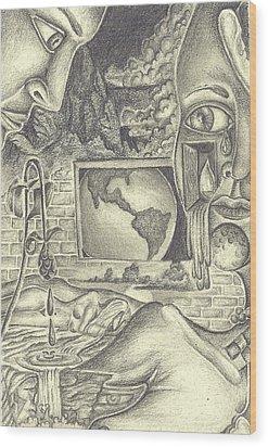 The World Cries Wood Print by Karen Musick