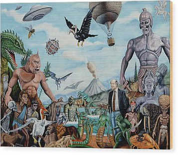 The World Of Ray Harryhausen Wood Print