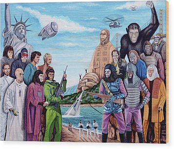 The World Of The Planet Of The Apes Wood Print by Tony Banos
