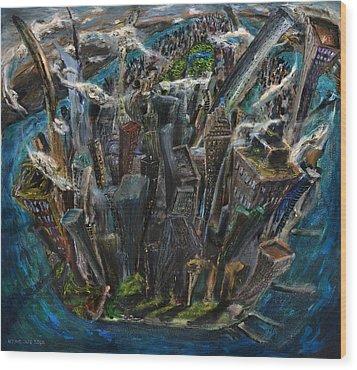 The Worlds Capital Wood Print by Antonio Ortiz