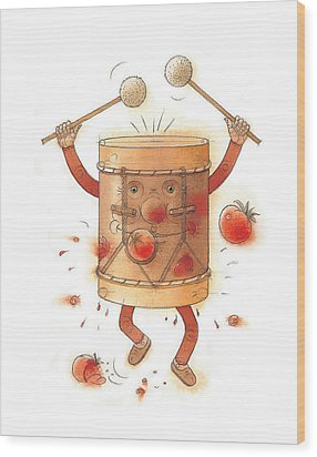 The Worst Musician Wood Print by Kestutis Kasparavicius