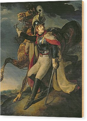 The Wounded Cuirassier Wood Print by Theodore Gericault