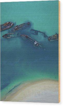 The Wrecks Wood Print