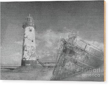 The Wrecks  Wood Print by Steev Stamford