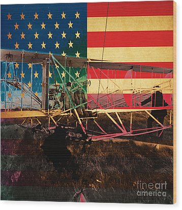 The Wright Bothers An American Original Wood Print by Wingsdomain Art and Photography