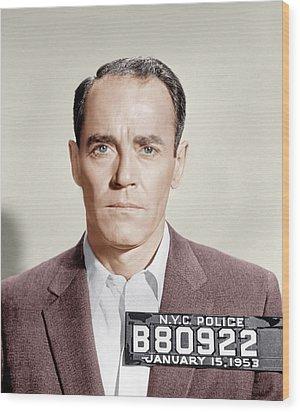 The Wrong Man, Henry Fonda, 1956 Wood Print by Everett