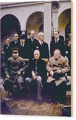 The Yalta Conference, Seated Joseph Wood Print by Everett