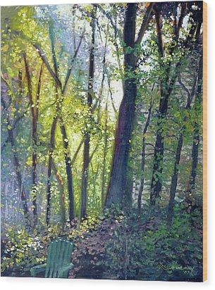 The Yard - Summer Dawn Wood Print by Gregg Hinlicky