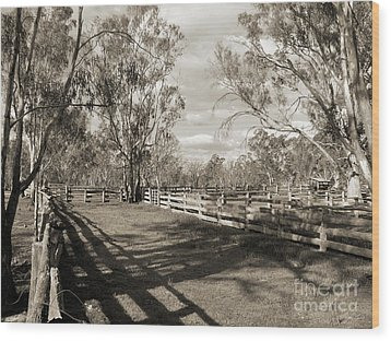Wood Print featuring the photograph The Yards by Linda Lees