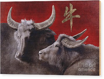 The Year Of The Ox... Wood Print by Will Bullas