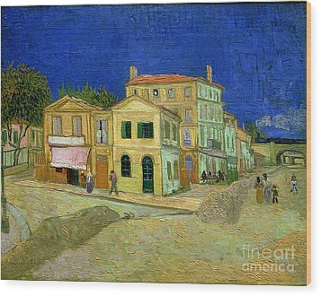 The Yellow House Wood Print by Vincent Van Gogh