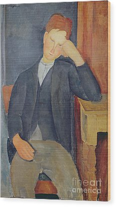 The Young Apprentice Wood Print by Amedeo Modigliani