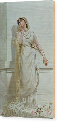 The Young Bride Wood Print by Alcide Theophile Robaudi