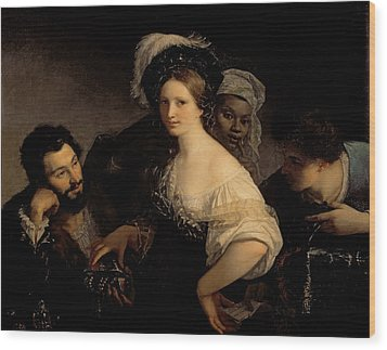 The Young Courtesan Wood Print by Alexandre Francois Xavier Sigalon