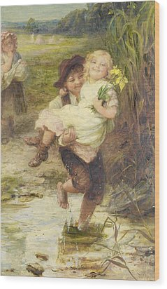 The Young Gallant Wood Print by Fred Morgan