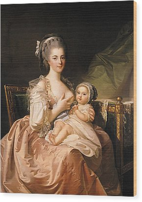The Young Mother Wood Print by Jean Laurent Mosnier