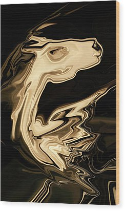 Wood Print featuring the digital art The Young Pegasus by Rabi Khan