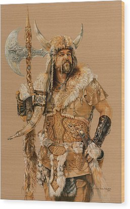The Young Son Of Bor Wood Print by Steven Paul Carlson