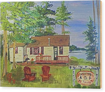 The Young's Camp Wood Print