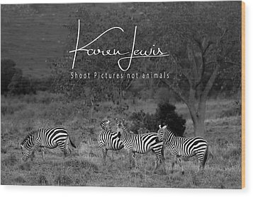 Wood Print featuring the photograph The Zebra Tree by Karen Lewis