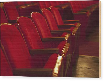 Theater Seating Wood Print by Carolyn Marshall