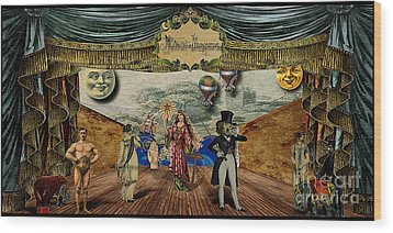 Theatrum Imaginarius -theatre Of The Imaginary Wood Print by Cinema Photography