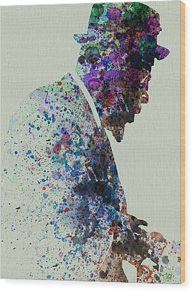 Thelonious Monk Watercolor 1 Wood Print by Naxart Studio