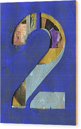 Thenumber 2 Wood Print