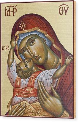 Theotokos Kardiotissa I Wood Print by Julia Bridget Hayes