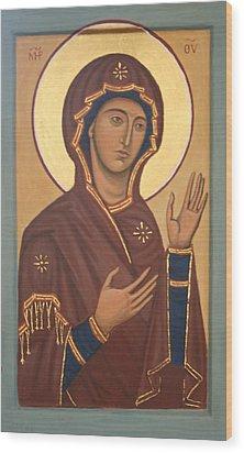 Theotokos Wood Print by Phillip Schwartz