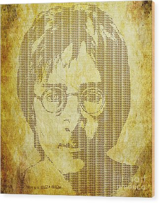 Wood Print featuring the digital art There Is A Magi In Imagine by Laura Brightwood
