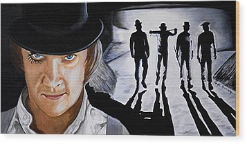 There Was Me That Is Alex And My Three Droogs Wood Print by Al  Molina
