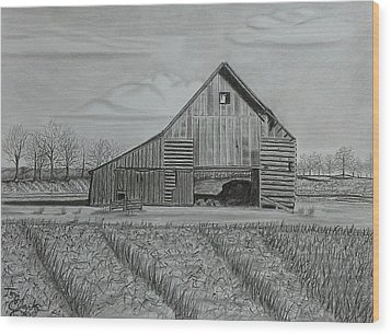 Theresa's Barn Wood Print