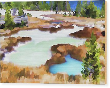 Thermal Pools, West Thumb Ynp Wood Print by Greg Sigrist