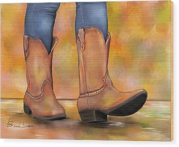 These Boots Are Made For Walkin  Wood Print