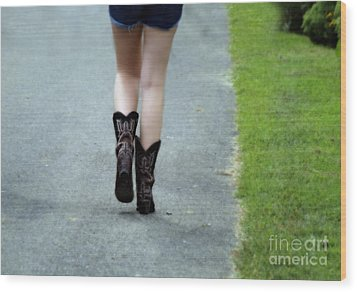 These Boots Are Made For Walking Wood Print by Steven  Digman