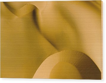 These Luscious Dunes Are Located Wood Print by Michael Fay