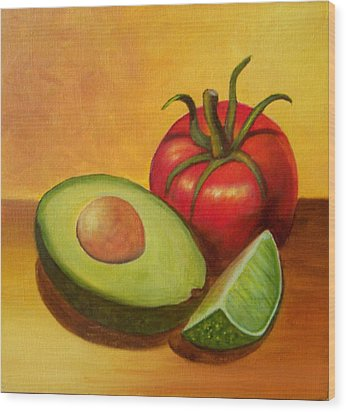 Think Guacamole - Sold Wood Print by Susan Dehlinger