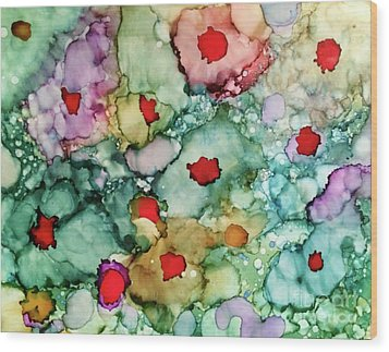 Wood Print featuring the painting Think Spring by Denise Tomasura