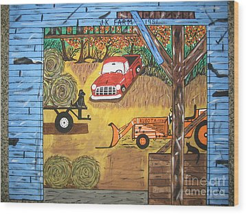 Wood Print featuring the painting Thinking About You by Jeffrey Koss